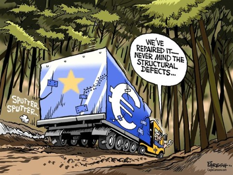 Paresh Nath - The Khaleej Times, UAE - Euro not out of woods COLOR - English - Euro, the woods, fixing euro, structural defects,debt crisis, Greece, Spain, Portugal,Germany