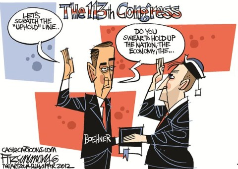 David Fitzsimmons - The Arizona Star - 113th Congress - English - congress, boehner