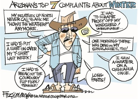 David Fitzsimmons - The Arizona Star - LOCAL AZ Arizona weather complaints - English - Arizona, weather