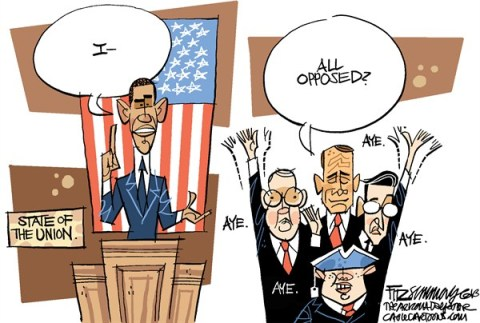 David Fitzsimmons - The Arizona Star - State of the Union - English - State of the Union, Obama
