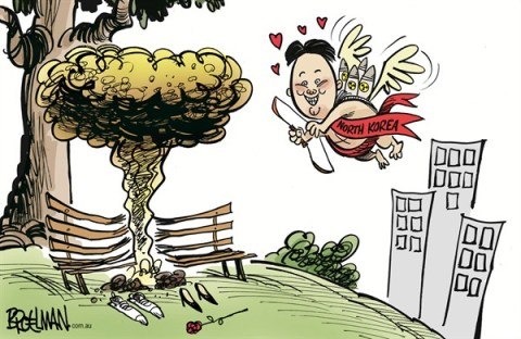Peter Broelman - Australia - Valentine's Day - English - Valentines Day, North Korea