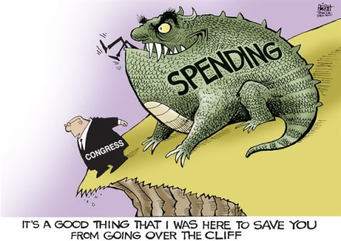 Randy Bish - Pittsburgh Tribune-Review - SAVED YA, COLOR - English - CONGRESS, FISCAL CLIFF, SAVED, AGREEMENT, SPENDING