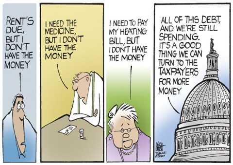 Randy Bish - Pittsburgh Tribune-Review - NO MONEY HERE, COLOR - English - DEBT, GOVERNMENT, TAXES