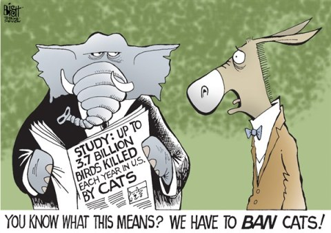 Randy Bish - Pittsburgh Tribune-Review - GOVERNMENT BANS, COLOR - English - GOVERNMENT, BAN, BANS, GUNS, GUN CONTROL, CATS