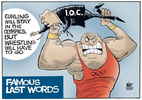 Randy Bish - Pittsburgh Tribune-Review - OLYMPIC WRESTLING, COLOR - English - OLYMPICS, OLYMPIC, WRESTLING, IOC, IOC, DROPPED, SPORT, SPORTS, EVENT