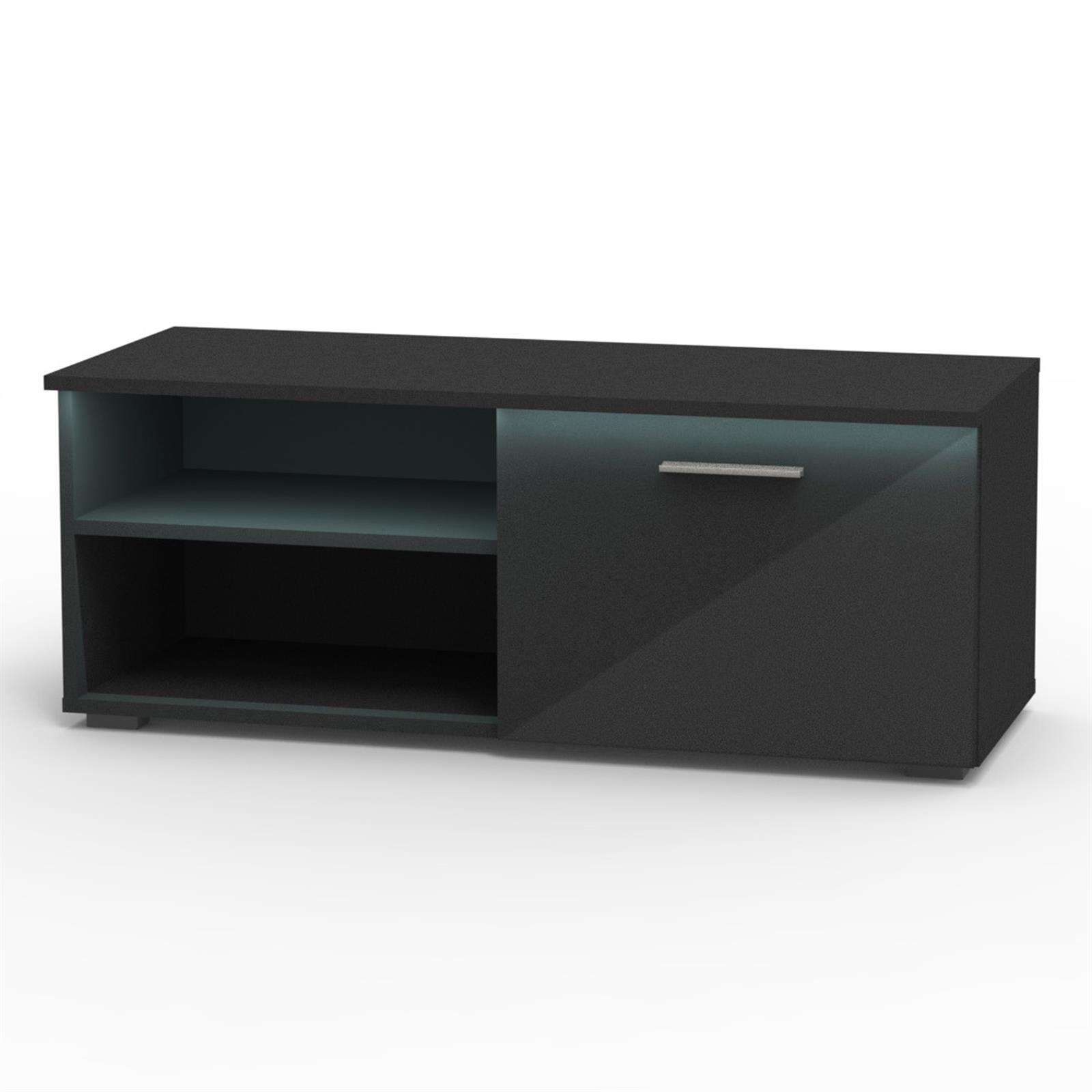 Fernseh Sideboard Tv Lowboard In Hochglanz 3 Farben Mit Led Beleuchtung