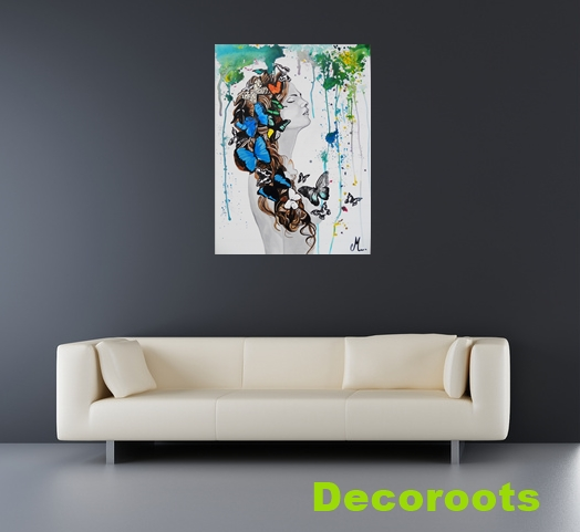 "Tableau De Decoration Moderne Tableau Design Contemporain ""sweet Paradise"" Ou ""sweet"