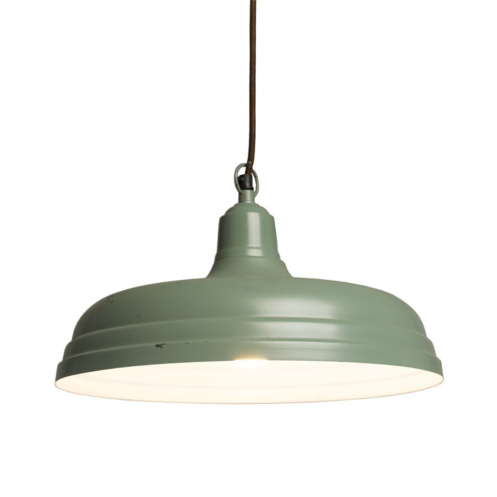 Grande Suspension Luminaire Grande Suspension Industrielle Verte Luminaire