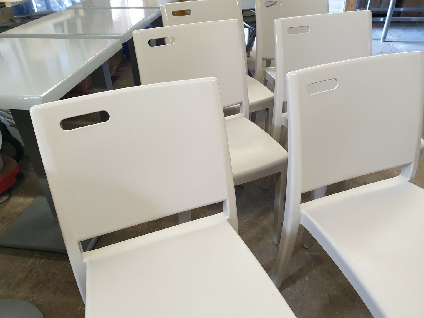 Table Exterieur De Restaurant Lot 6 Tables 12 Chaises Pvc Extérieur Terrasse Sm France Restaurant Bistro Pizza Occasion