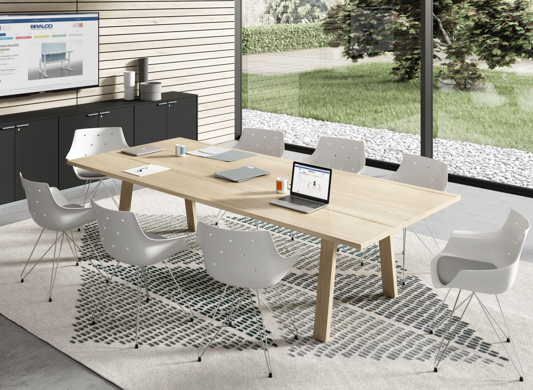 Grande Table Scandinave Grande Table De Co Working En Bois