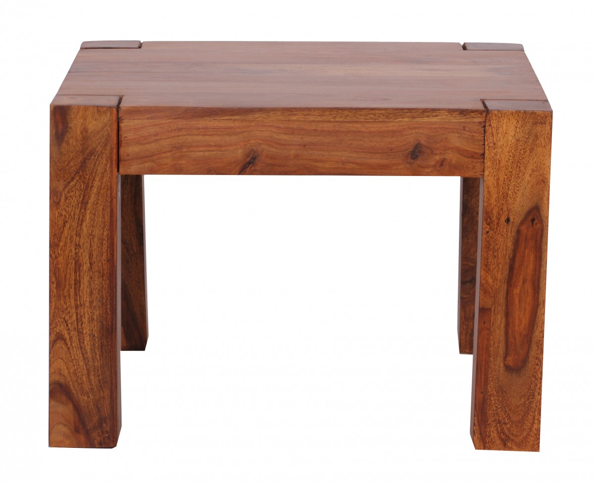 Table Basse Sheesham Table Basse Carrée Mumbai 60x60 En Bois Massif