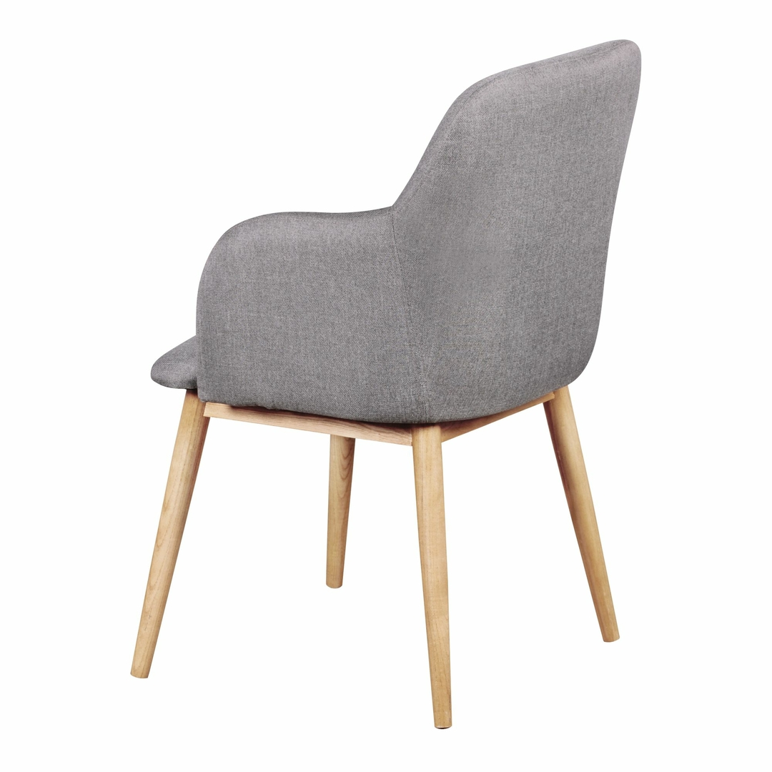 Chaise Salle A Manger Style Scandinave Chaise Lima Style Scandinave Tissu Gris Clair Salle à