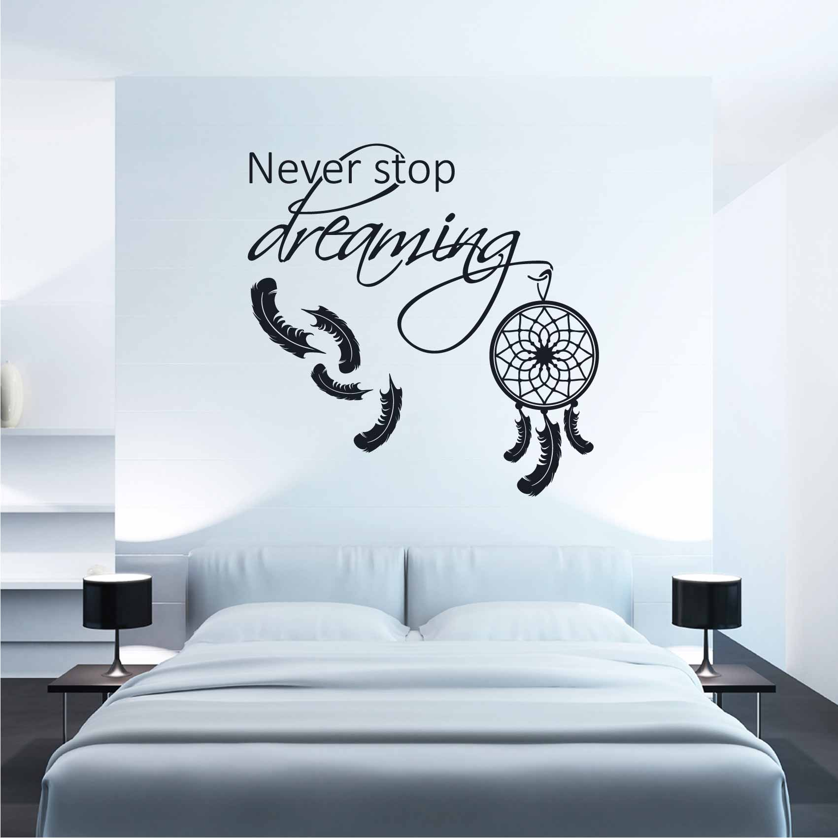 Stickers Pour Chambre Adulte Stickers Chambre Never Stop Dreaming