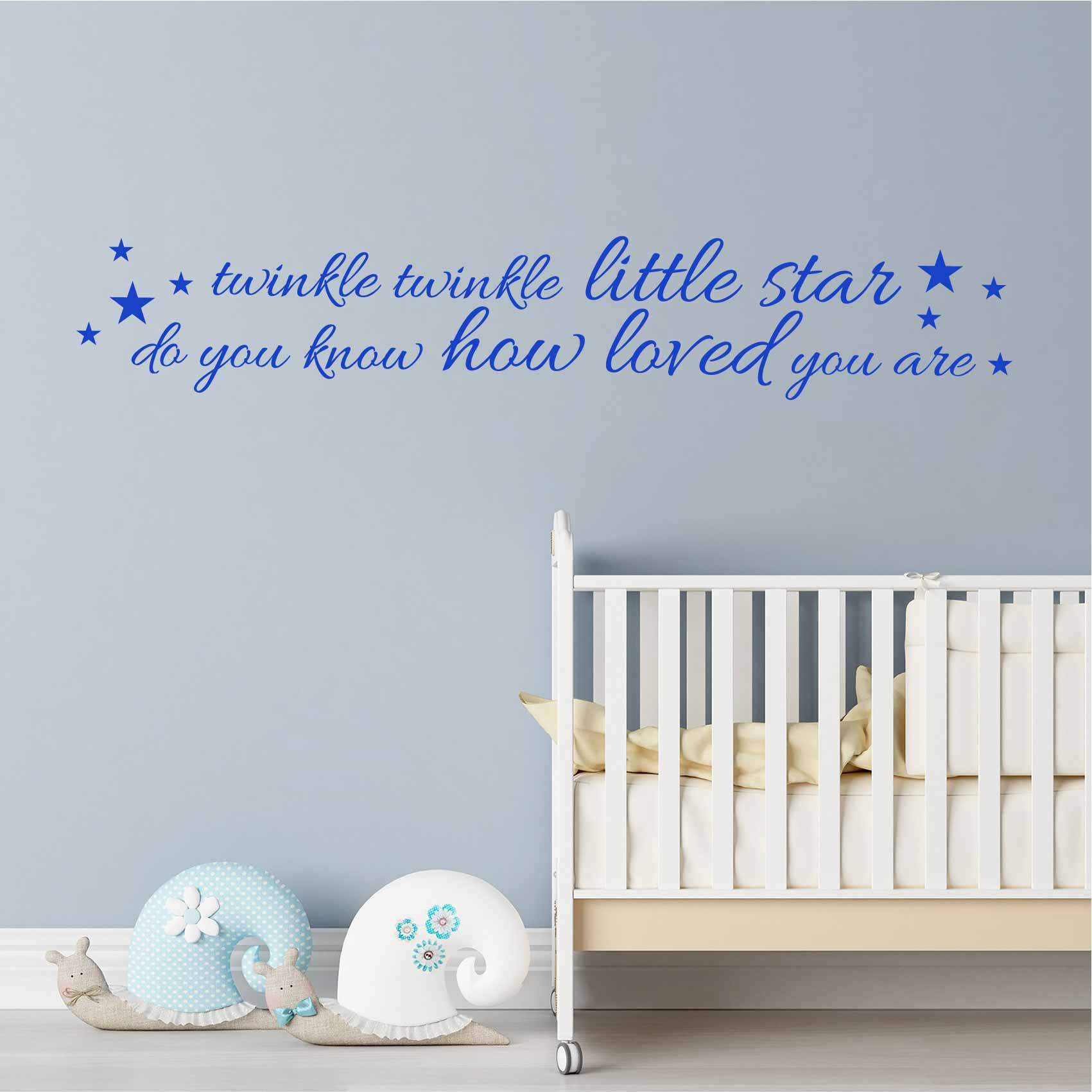 Stickers Phrase Chambre Stickers Citation Enfant Twinkle Little Star