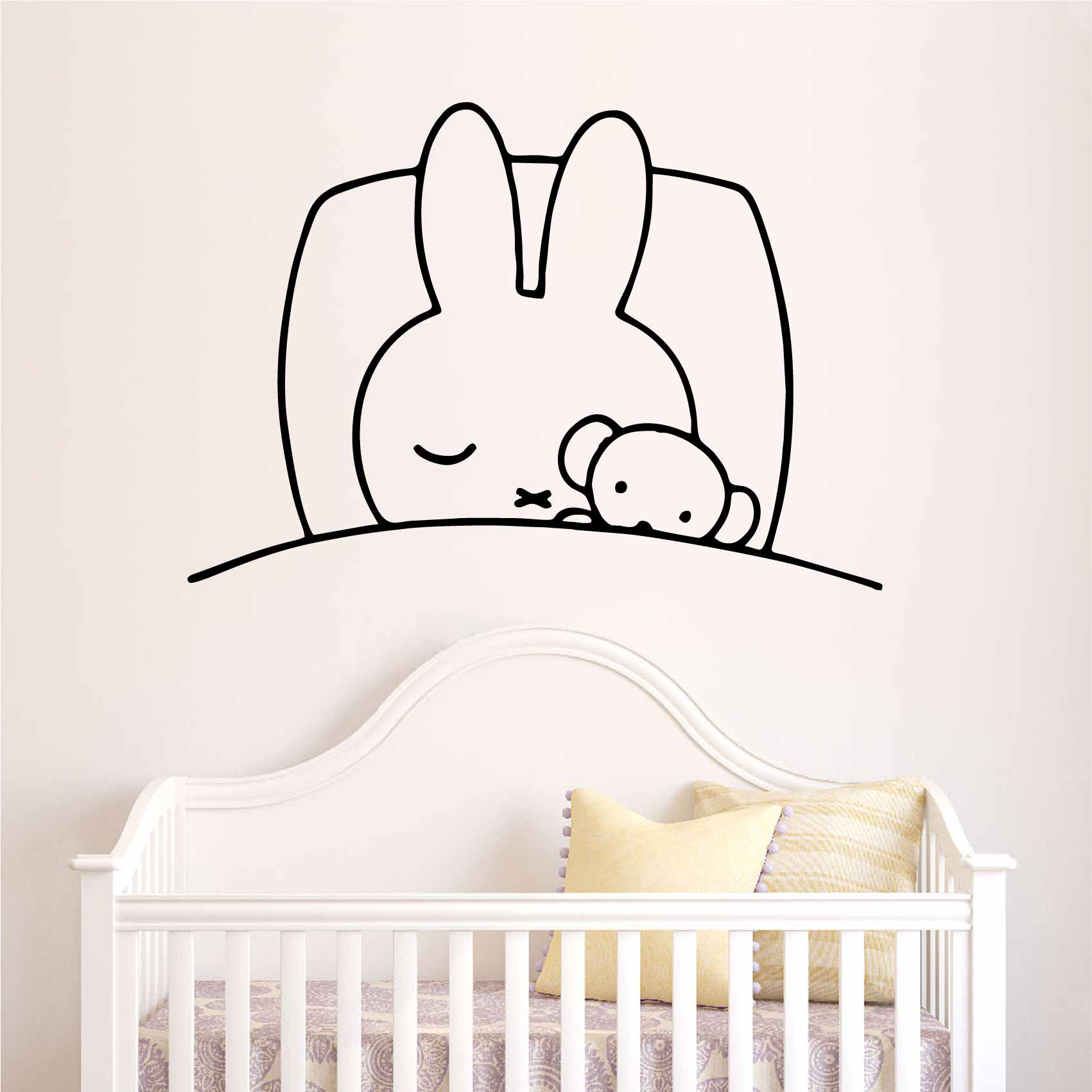 Sticker Chambre Enfant Stickers Lapin Endormi