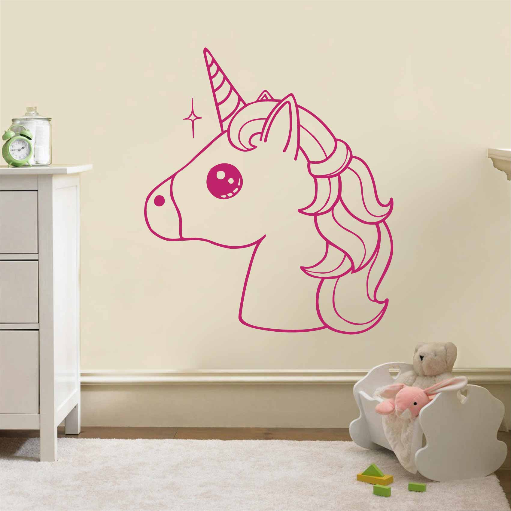 Decoration Chambre Licorne Stickers Kawaii Licorne