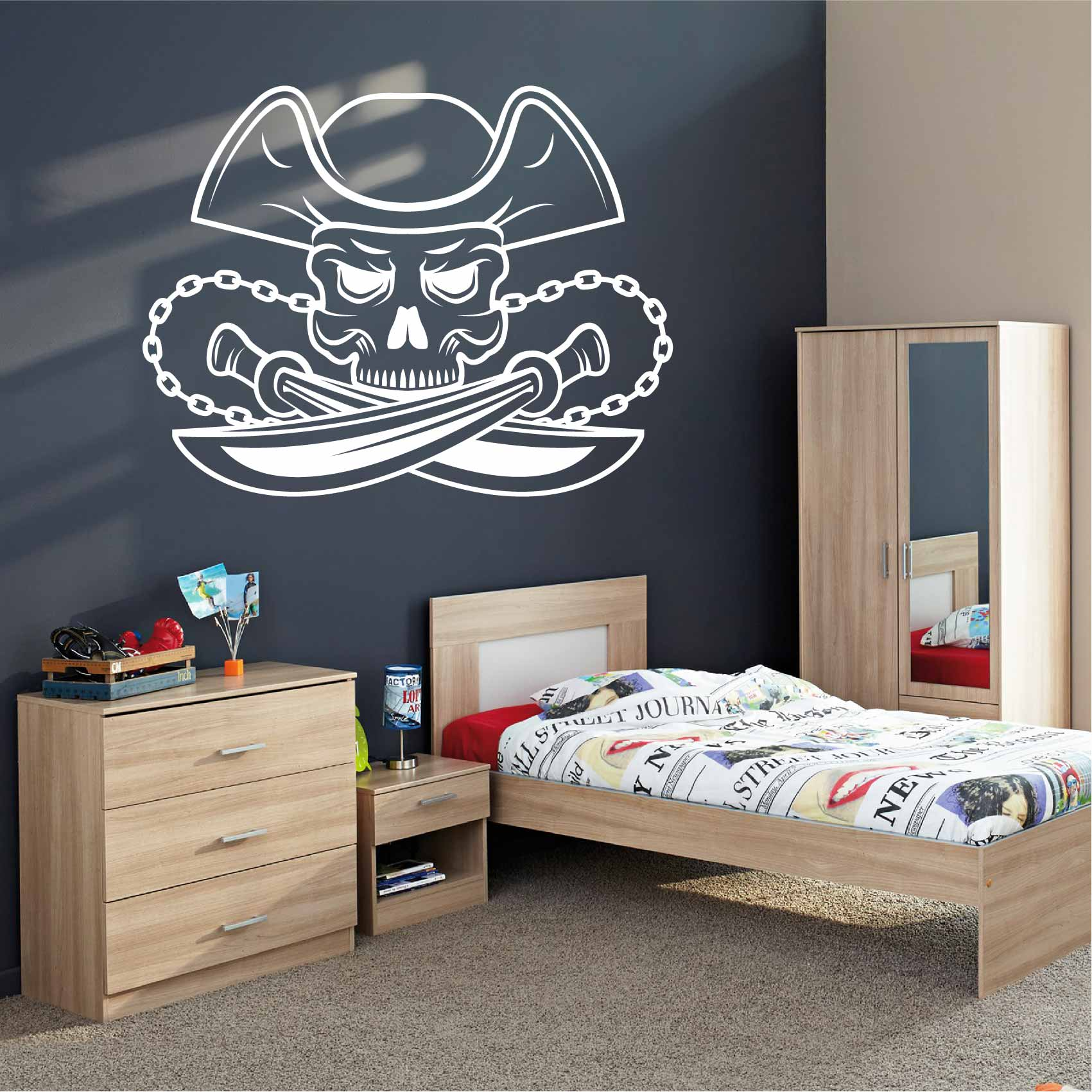 Stickers De Pirate Autocollant Muraux Et Deco - Chambre Garcon Pirate