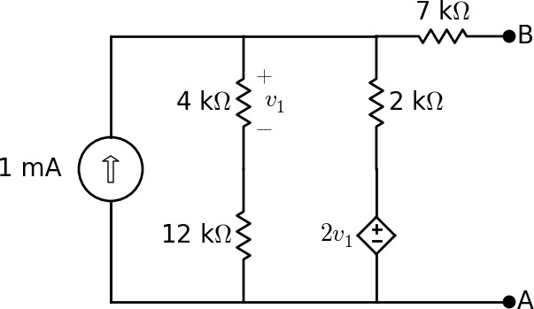 find the equivalent resistance of the circuit shown in the figure