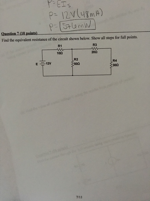 image text a 4 points find the equivalent resistance of the circuit