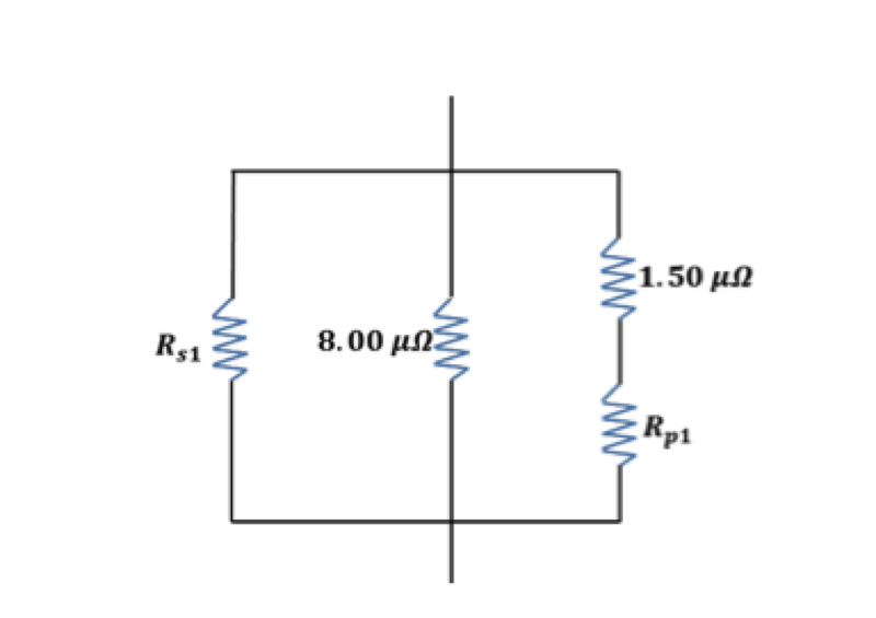 find the equivalent resistance of the circuit in figure