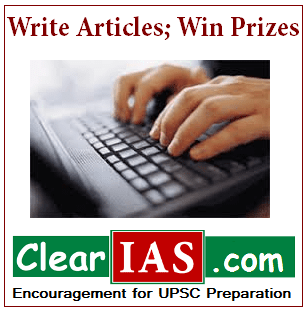 Write Article and Win Prizes : ClearIAS.com