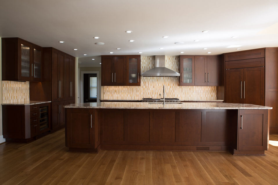 Soft Contemporary Cherry Kitchen Remodel In Rochester Ny