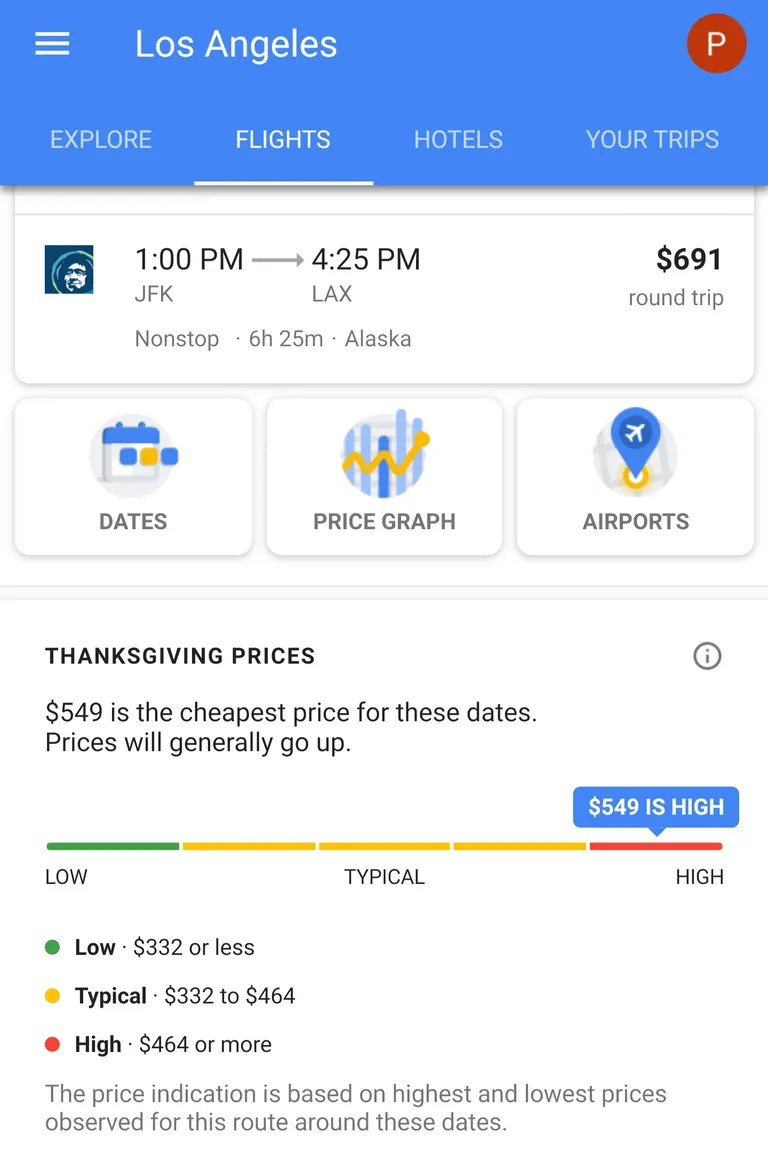Google Flights The Best Time To Book Thanksgiving Flights According To Google
