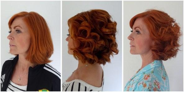 Susanne fick hjälp med att göra en fin frisyr för bröllop och fest