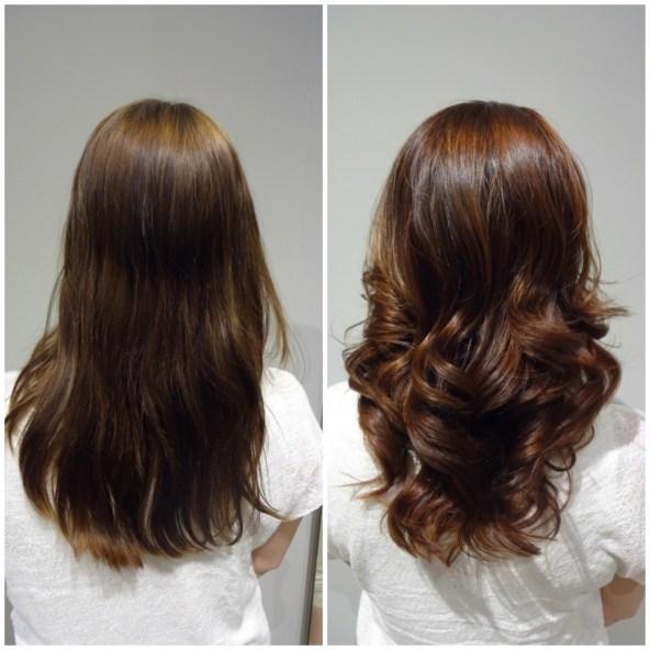 Ett koppar och mahognyfärgat hår...