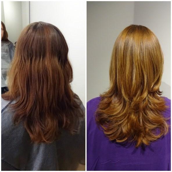 En ljusare gyllene mörkblond hårfärg