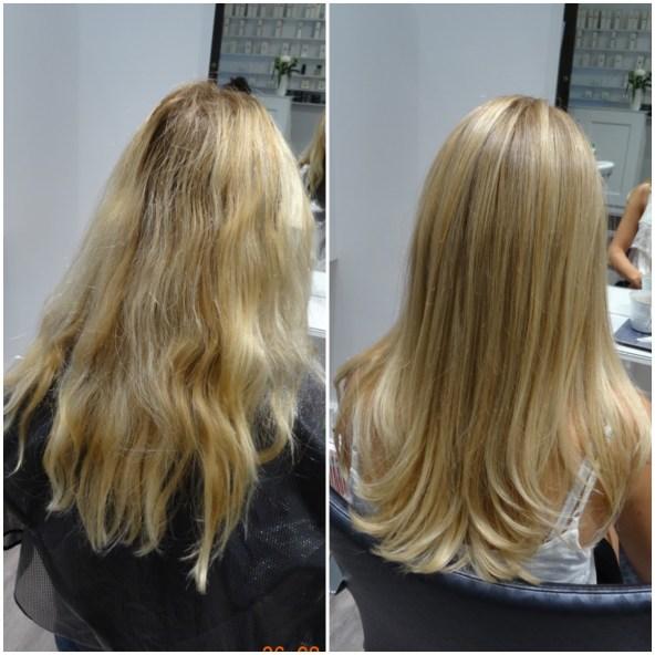 Ebba blev snyggt blond med O&Ms hårfärg