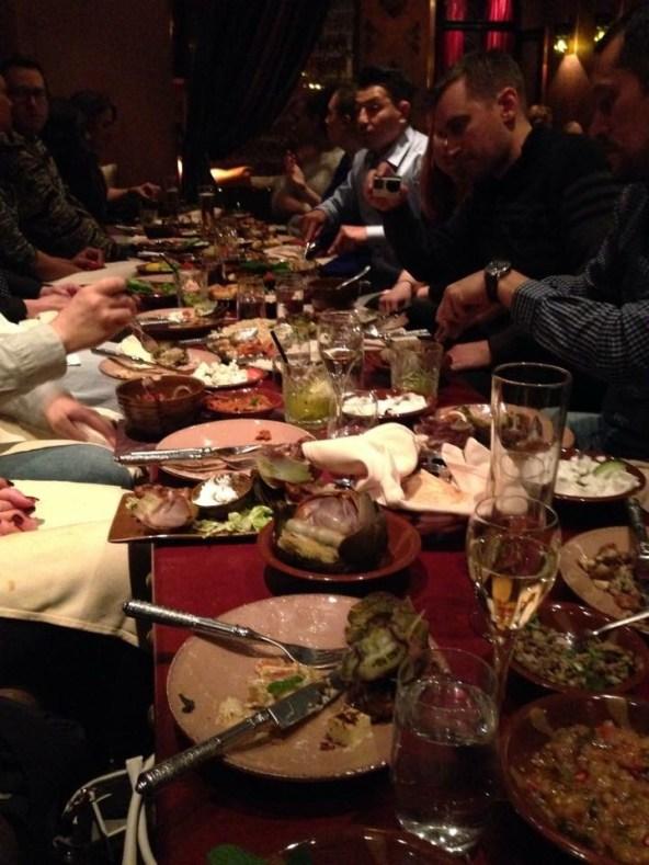 Middagen intogs på Beirut Cafe...