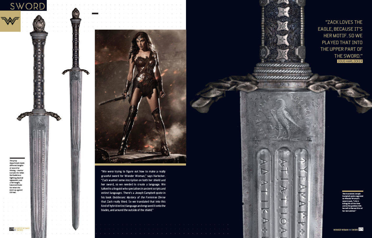 Spada Wonder Woman Engraving On Wonder Woman 39s Sword In Batman V Superman