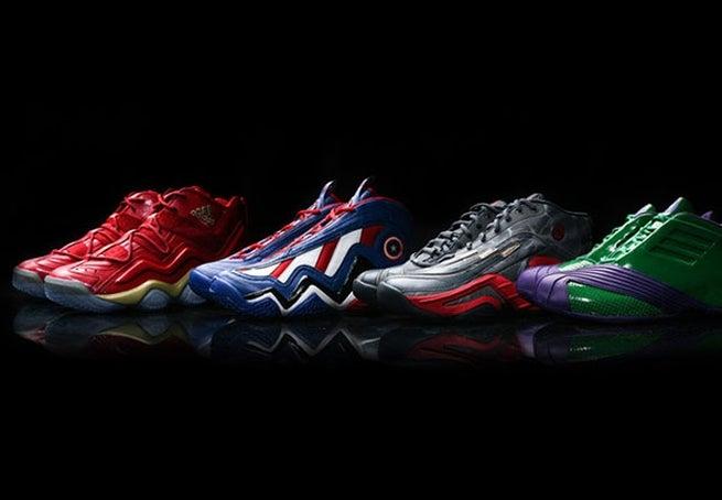 Jordan 3d Wallpaper Avengers Themed Adidas Basketball Sneakers Revealed