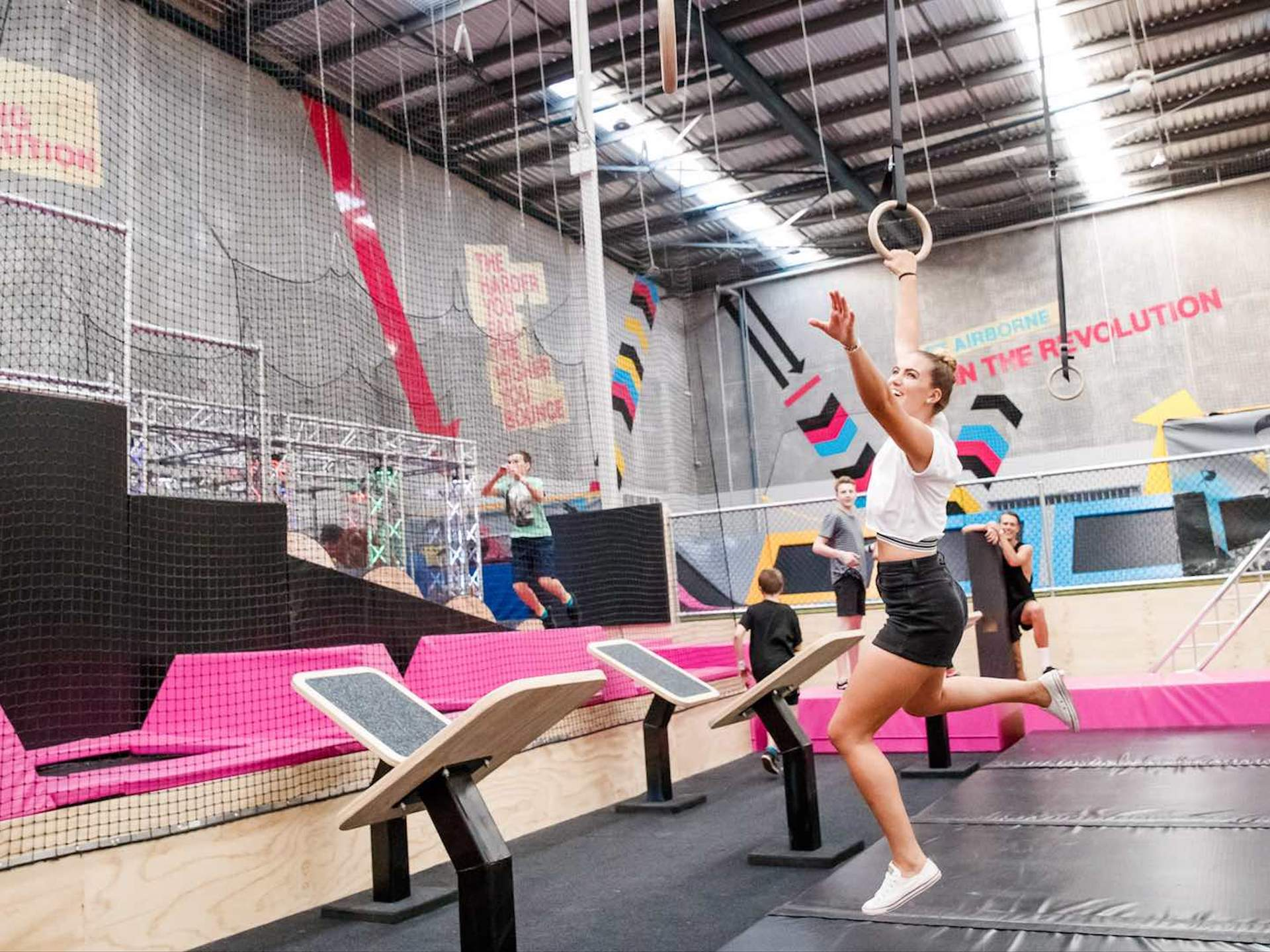 Buy Trampoline Brisbane A Jumping Free For All At Bounce Trampoline Park Concrete