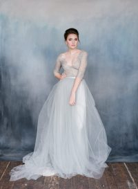 Grey wedding dresses for the adventurous bride
