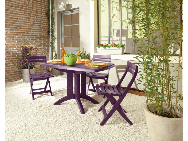 Vega Meuble Design Table Pliante Vega Coloris Aubergine - Vente De Table Et