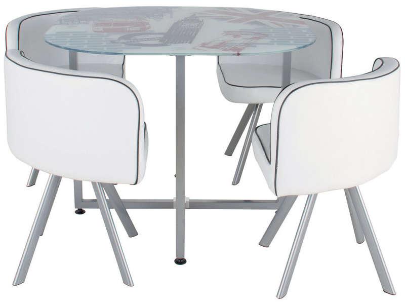 Table et chaise gain de place for Table de cuisine gain de place conforama