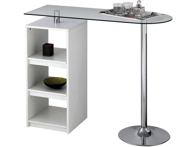 Meuble Bar Conforama Table De Bar Youen Coloris Blanc - Vente De Table De