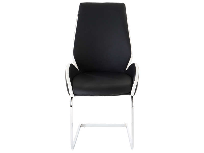 Conforama Chaise De Salon Chaise Indiana Coloris Noir Et Blanc - Vente De 30% De