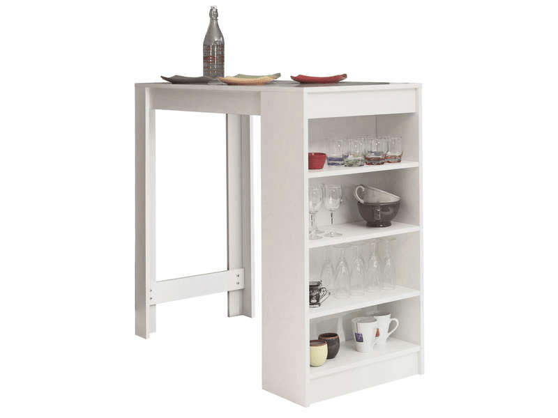 Meuble Bar Conforama Table Bar Avec Rangement Coloris Blanc - Vente De Table De