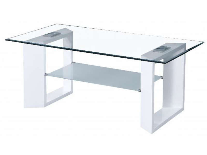 Conforama Table Basse Salon Table Basse Samarah Coloris Blanc - Vente De Table Basse