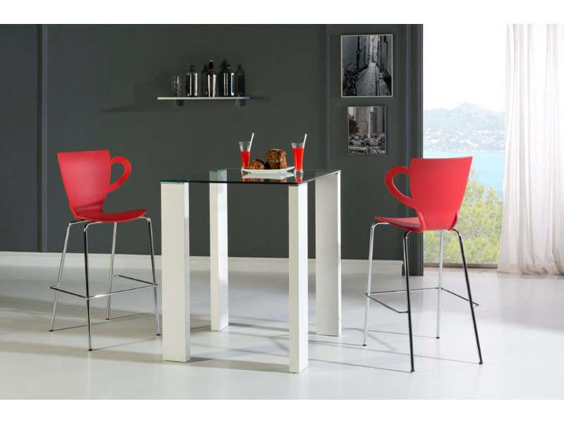 Monter Un Meuble Ensemble Table Haute + 4 Chaises Brandy Coloris Blanc