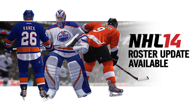 NHL 14 Roster Update