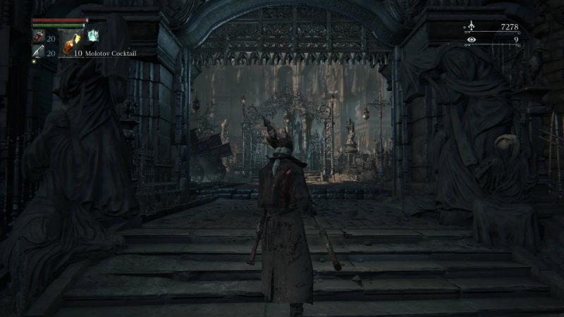 Bloodborne open gate to Vicar Amelia