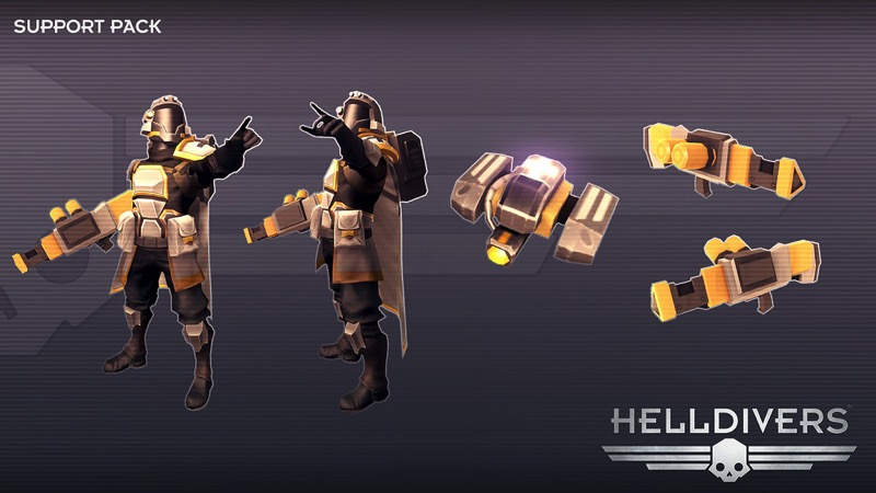 Helldivers support DLC