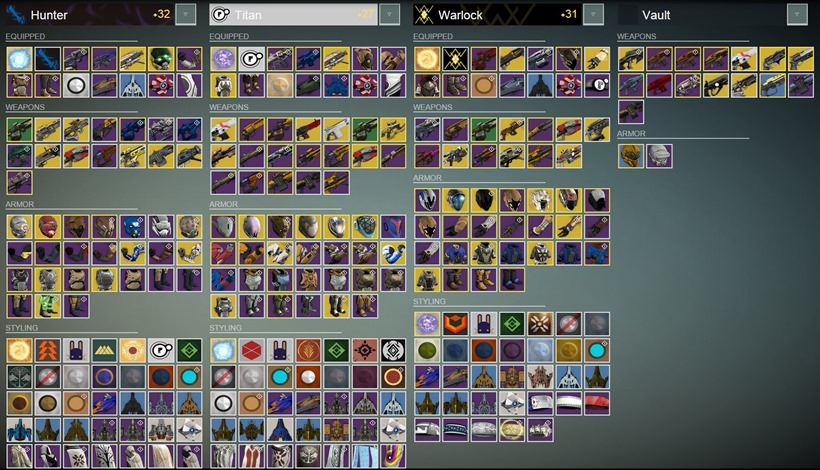 Destiny gear
