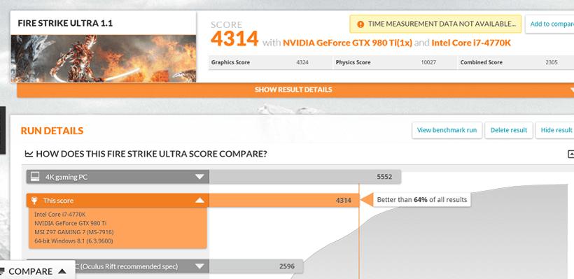 Fire Strike Ultra 980Ti