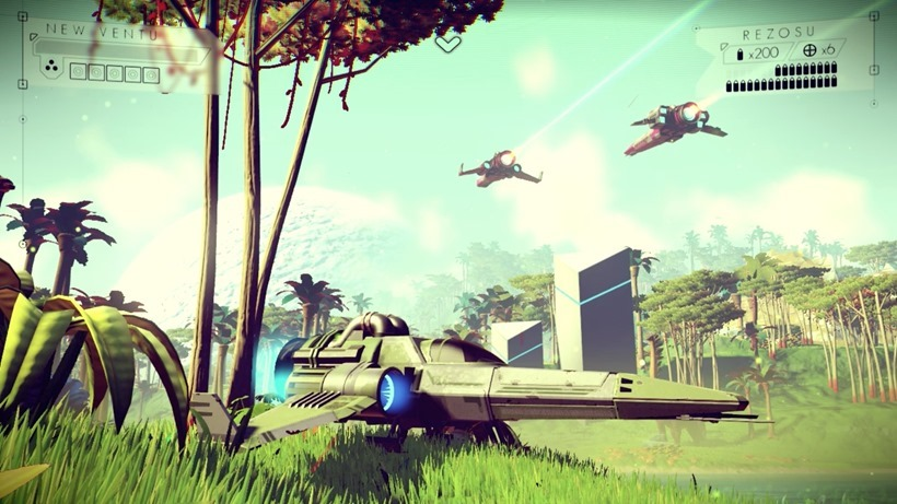Rainy planets and space battles in new no man's sky trailer