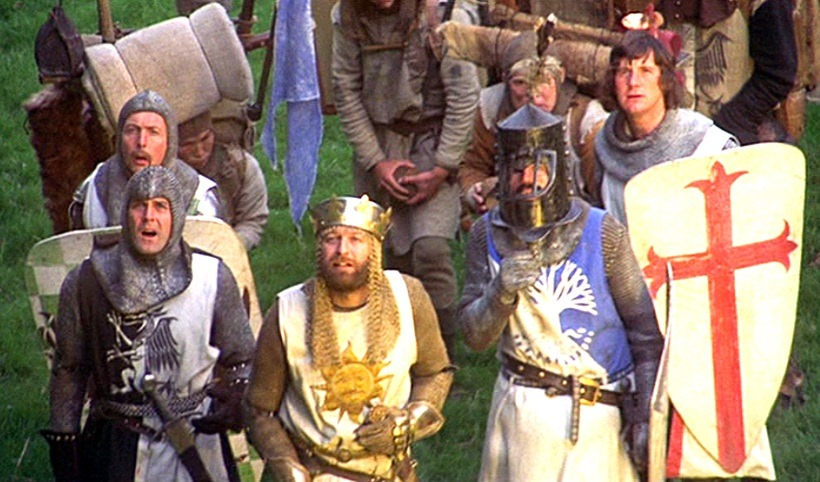 The scroll and trumpets remind me of Monty Python and the Holy Grain and honestly I would jump at any reason to use an image from this movie as a header. lolol NI